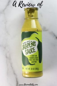 Trader Joe's Jalapeno Sauce Review image for Pinterest