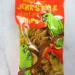 Trader Joe's Jerk Style Plantain Chips review Pin for Pinterest
