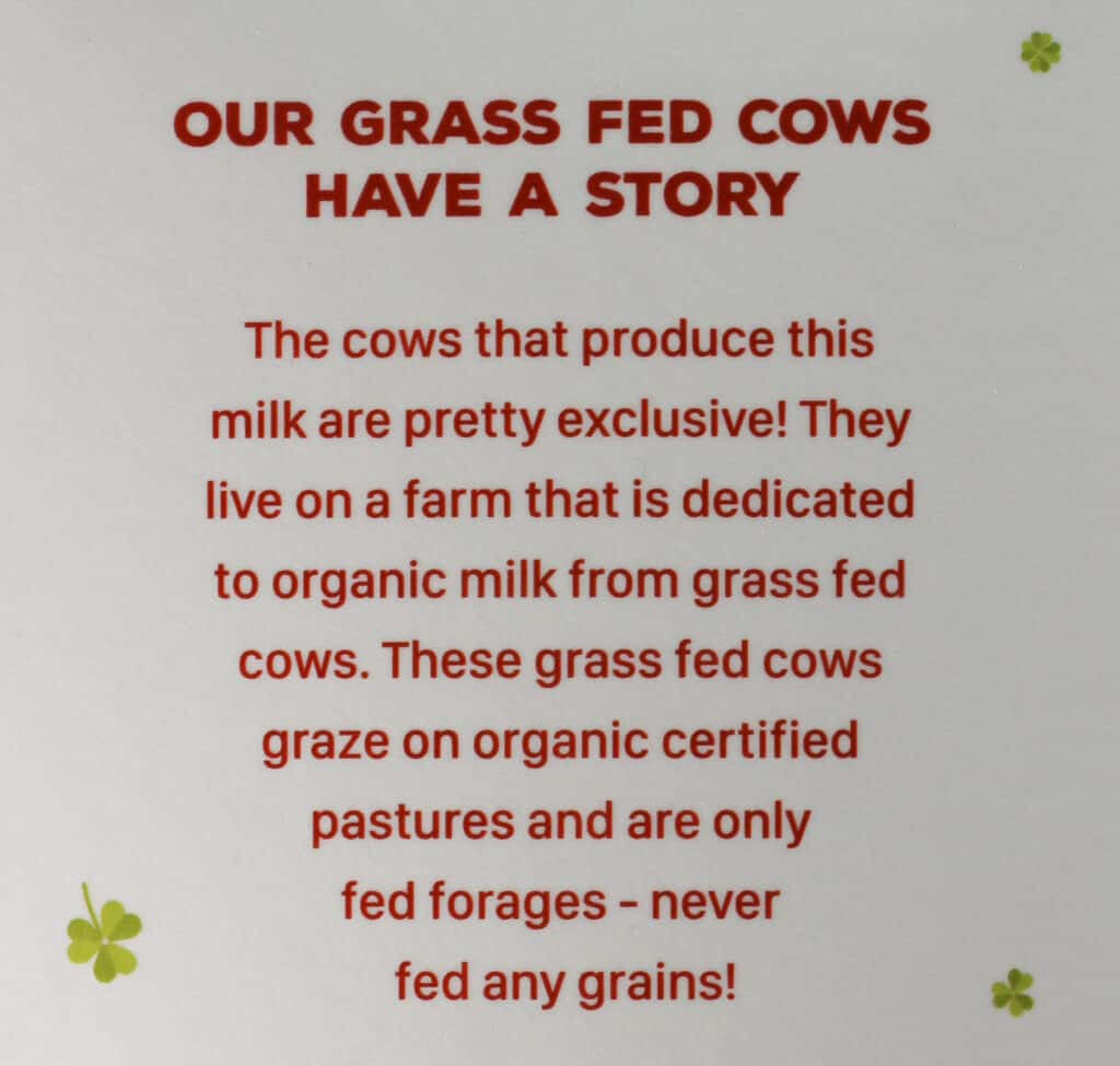 Description of Trader Joe's Organic Milk from Grass Fed Cows