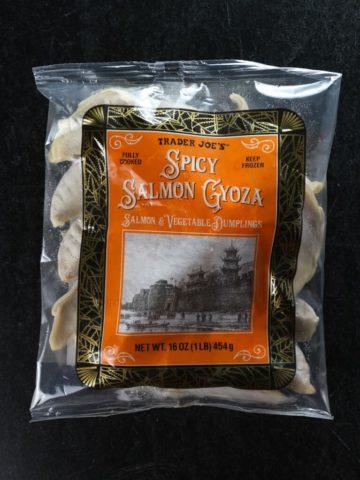 Trader Joe's Spicy Salmon Gyoza bag unopened