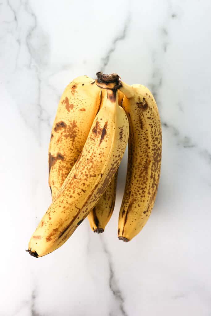 A bunch of overripe bananas