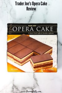 Trader Joe's Opera Cake Review Pin for Pinterest