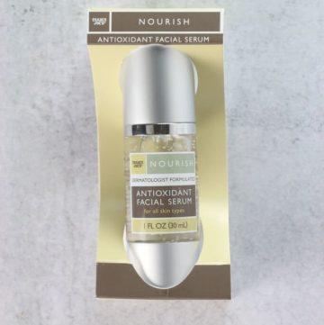 An unopened box of Trader Joe's Antioxidant Facial Serum