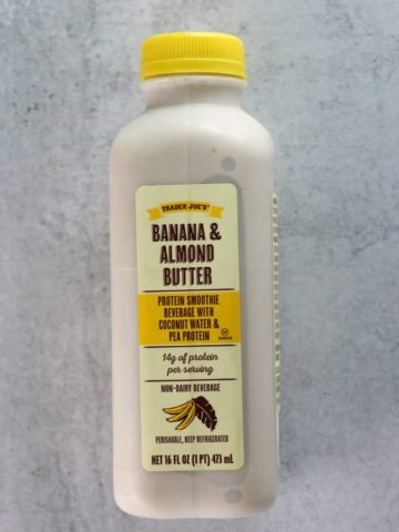 Trader Joe's Banana and Almond Butter Protein Smoothie