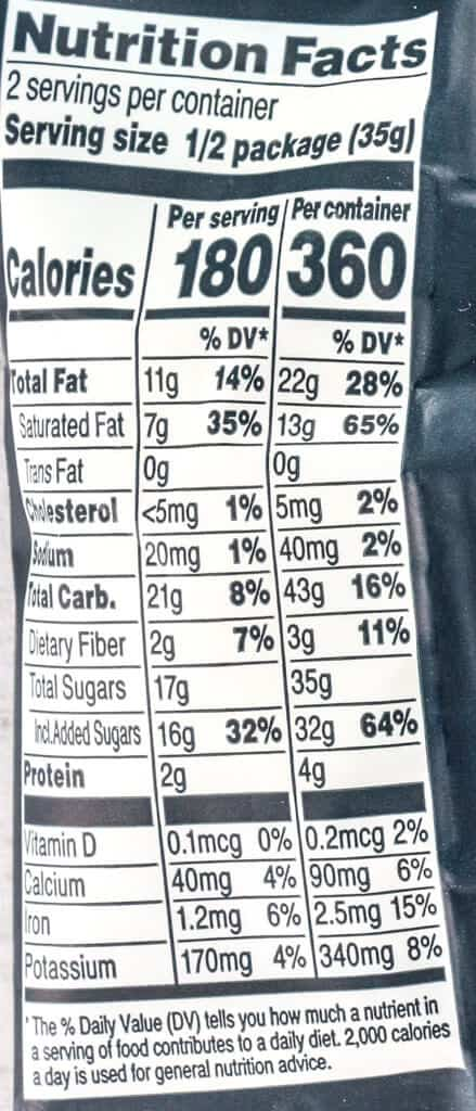 Nutritional information and calories in Trader Joe's Coffee Lovers Espresso Beans