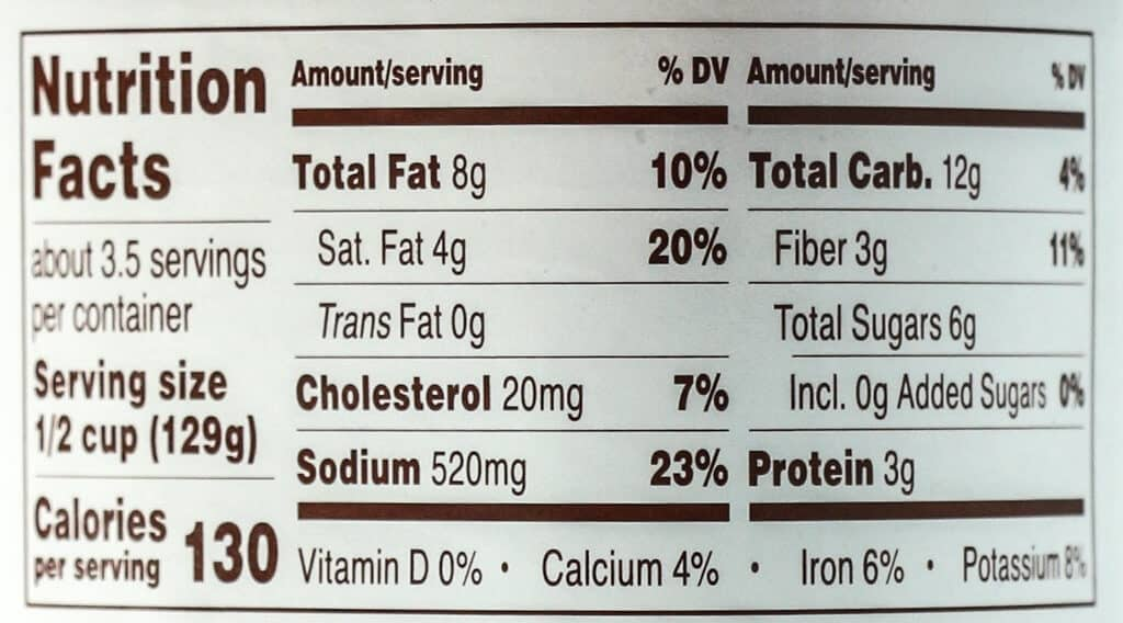 Calories and nutritional information for Trader Joe's Creamy Pink Primavera Pasta Sauce
