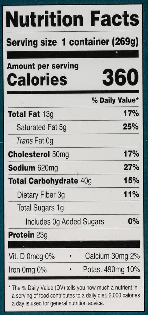 Nutritional information and calories in Trader Joe's Fiery Chicken Curry