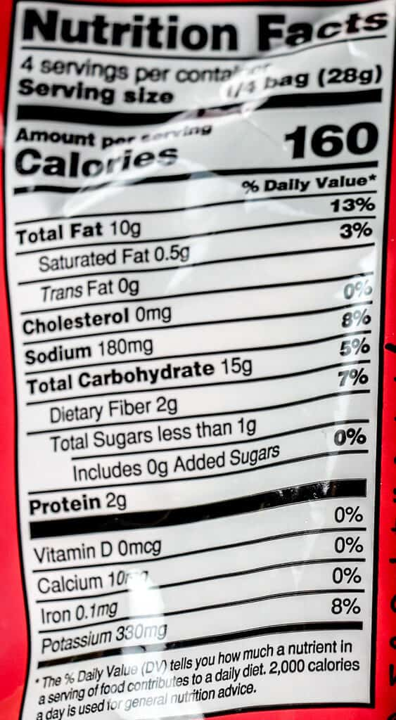 Nutritional information and calories in Trader Joe's Ketchup Flavored Spud Crunchies
