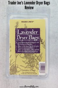 Trader Joe's Lavender Dryer Bags Review image for Pinterest
