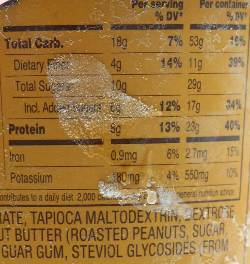 Calories and nutritional facts in Trader Joe's Light Ice Cream Chocolate Peanut Butter