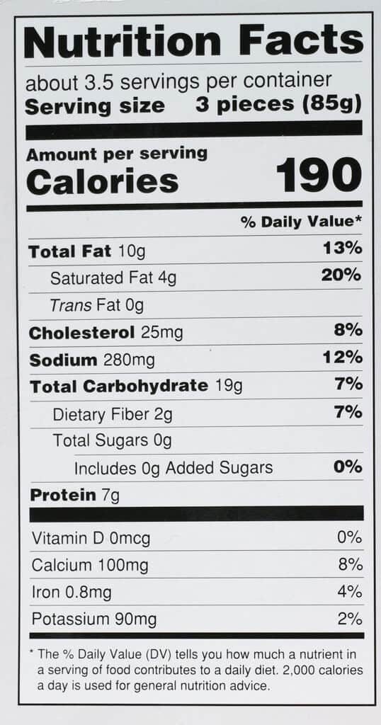 Calories and nutritional information for Trader Joe's Mac and Cheese Bites
