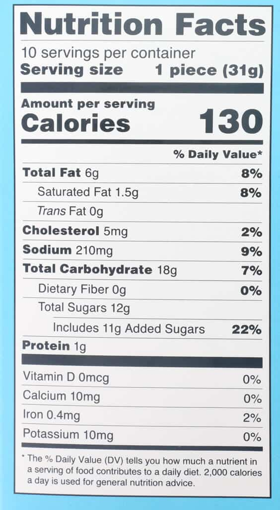 Nutritional information and calories in Trader Joe's Cinnamon Rugelach