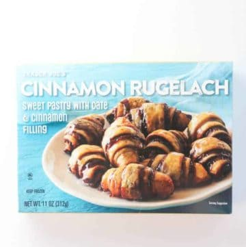 An unopened box of Trader Joe's Cinnamon Rugelach