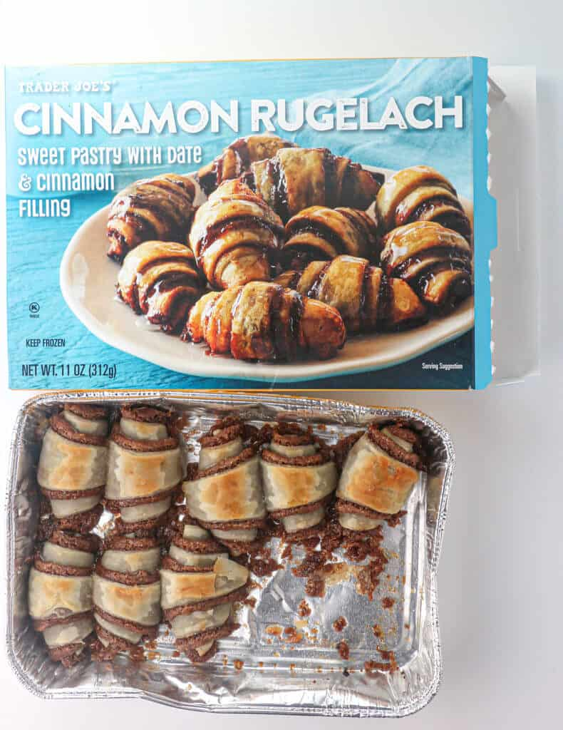 A tray of cooked Trader Joe's Cinnamon Rugelach