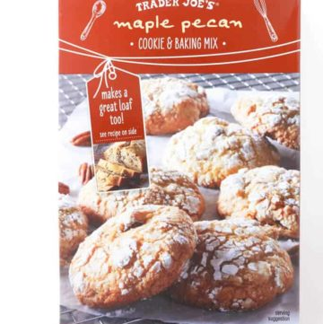 An unopened box of Trader Joe's Maple Pecan Cookie and Baking Mix