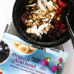 A fully prepared and thawed Trader Joe's Organic Acai Bowl