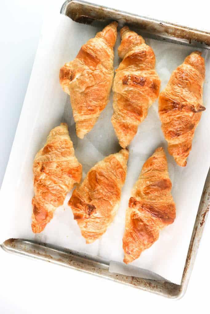 Six fully cooked Trader Joe's 8 Mini Croissants