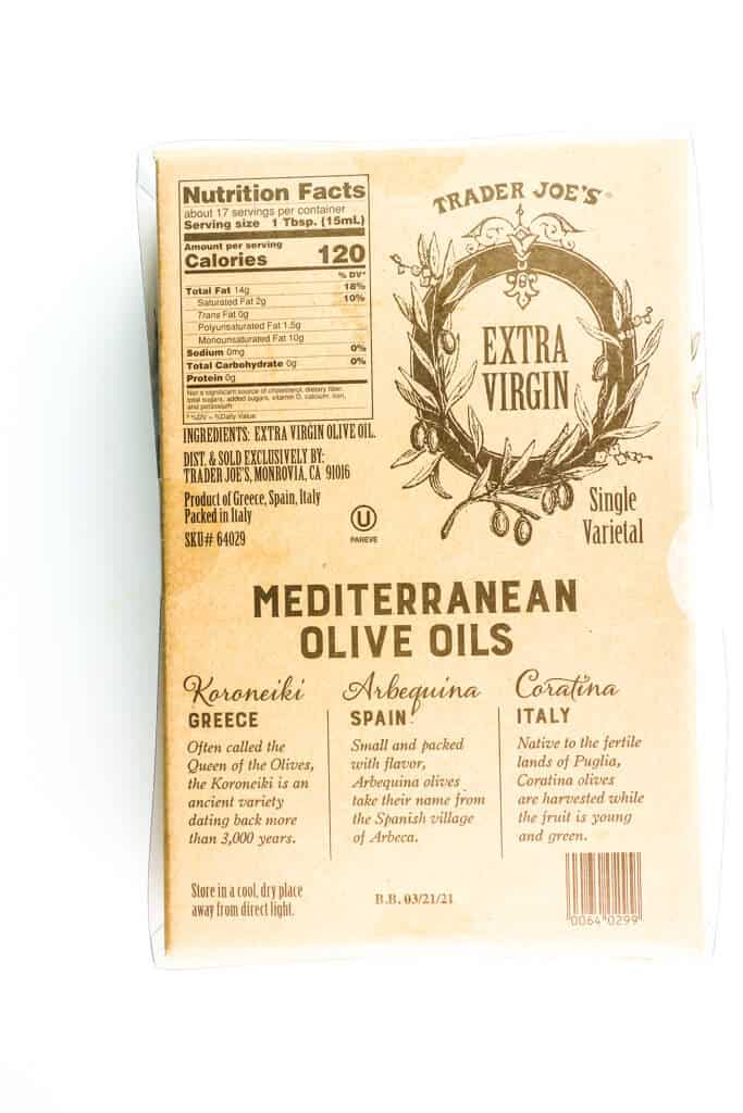 Nutritional facts, calories, and ingredients in Trader Joe's Mediterranean Olive Oil Trio