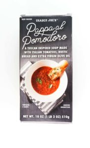 An unopened box of Trader Joe's Pappa al Pomodoro