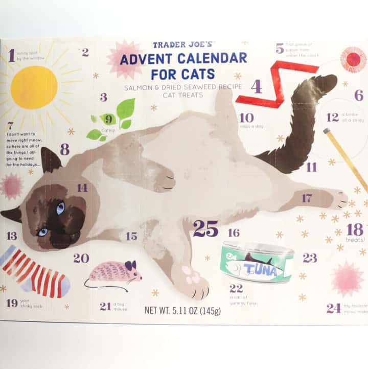 An unopened Trader Joe's Advent Calendar for Cats