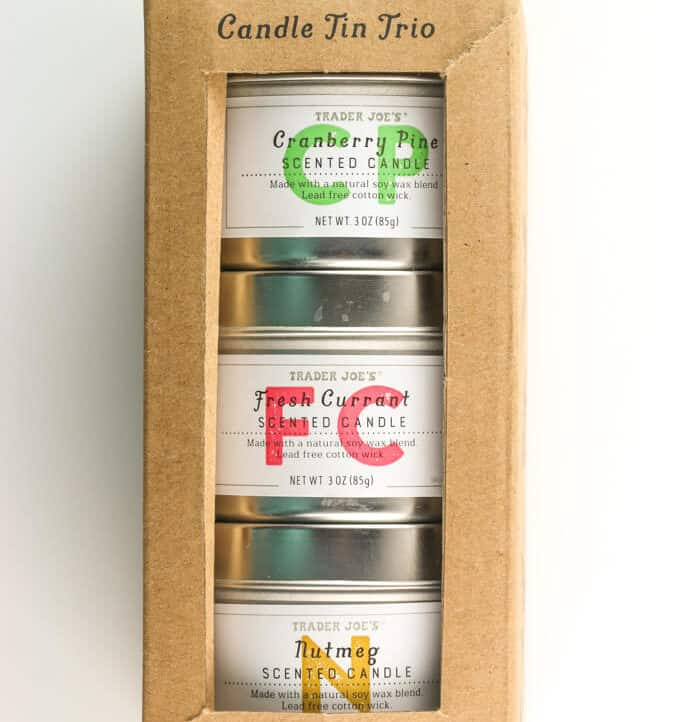 Trader Joe's Candle Tin Trio unopened
