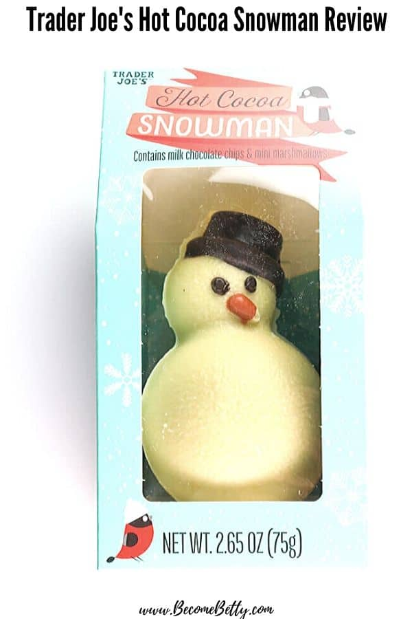 Trader Joe's Hot Cocoa Snowman