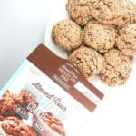 A fully baked box of Trader Joe's Almond Flour Chocolate Chip Cookies
