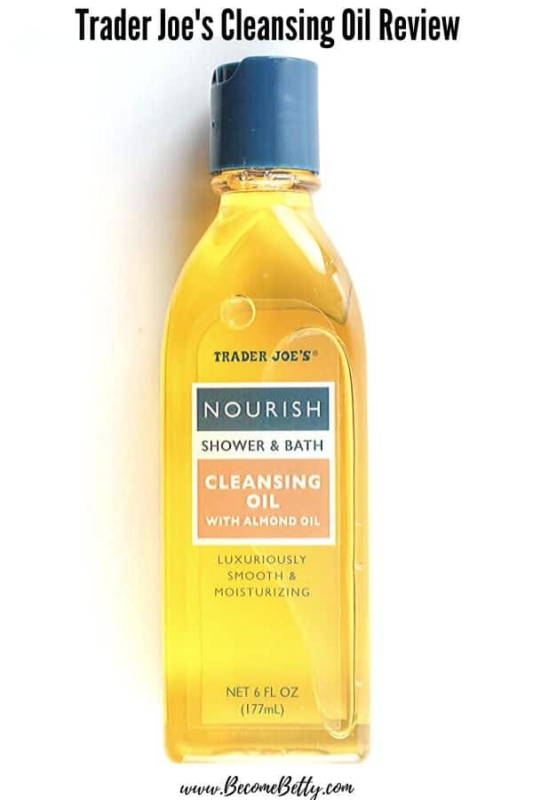 An unopened bottle of Trader Joe's Cleansing Oil