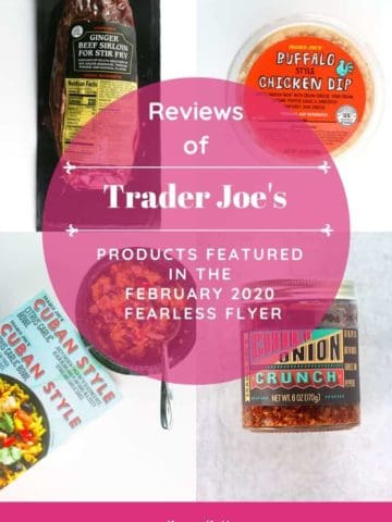 A collage of 4 different Trader Joe's products