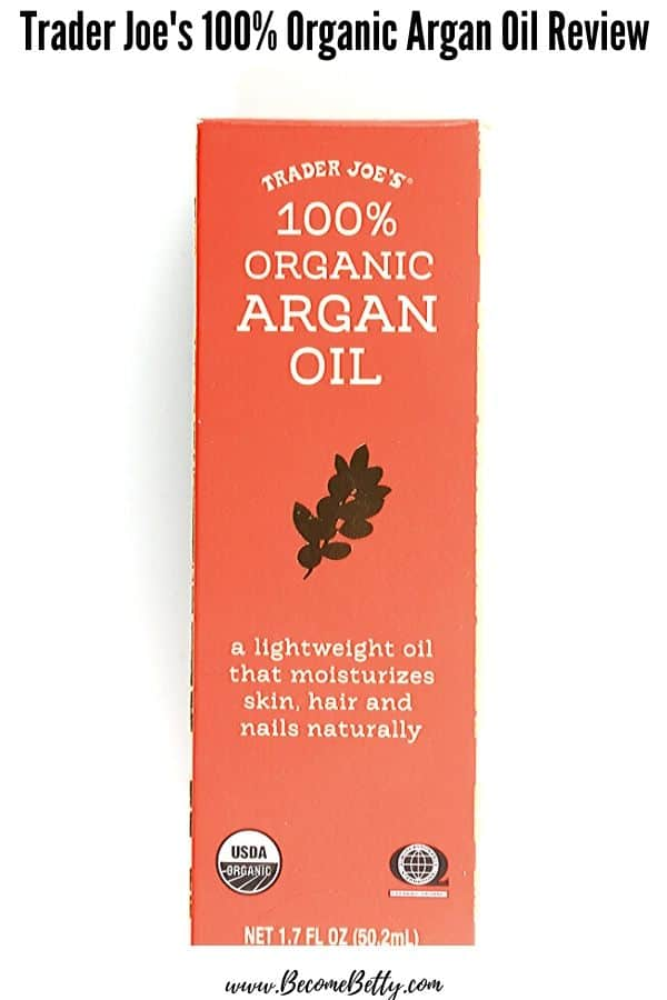 Trader Joe's 100% Organic Argan Oil Review in an unopened package