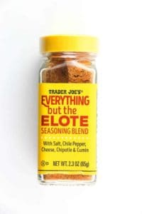 An unopened bottle of Trader Joe's Everything but the Elote Seasoning Blend