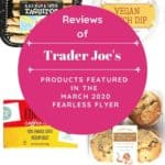 A collage of four products featured in the Trader Joe's Fearless Flyer