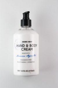 An unopened bottle of Trader Joe's A Mid Summers Nights Cream Hand and Body Cream