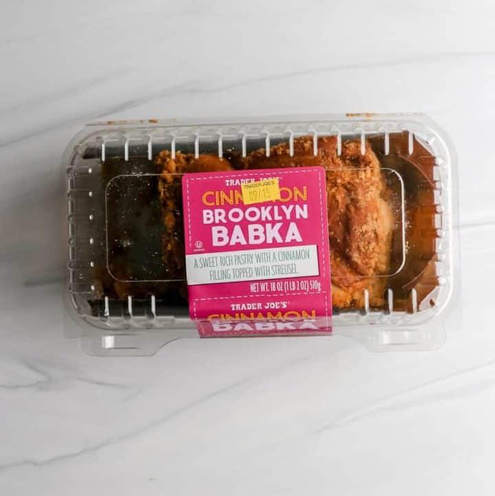 An open package of Trader Joe's Cinnamon Brooklyn Babka