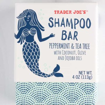 An unopened package of Trader Joe's Shampoo Bar