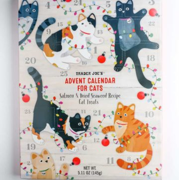 The box of Trader Joe's Advent Calendar for Cats