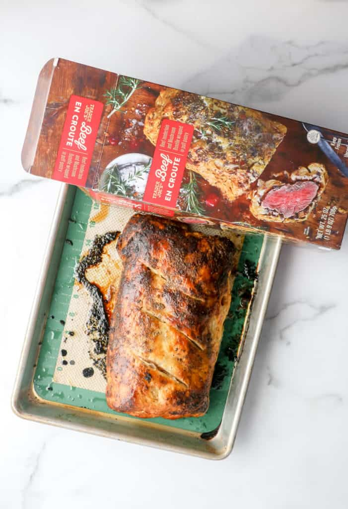 A fully cooked Trader Joe's Beef en Croute