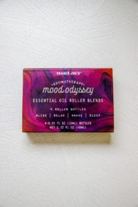 An unopened package of Trader Joe's Aromatherapy Mood Odyssey