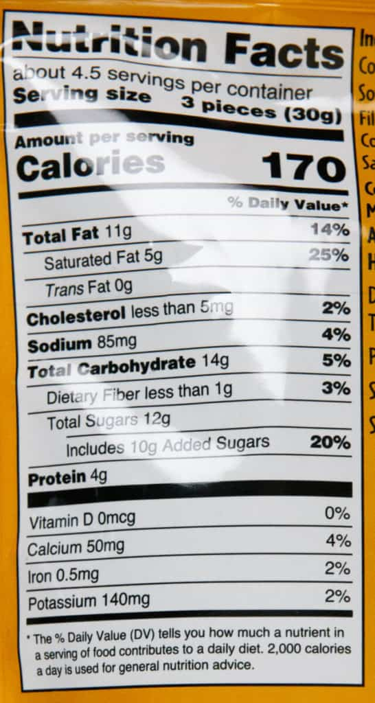 Nutritional facts in Trader Joe's Crispy Peanut Butter Filled Milk Chocolate Peanuts