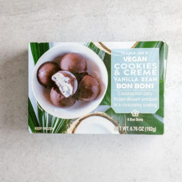 Trader Joe's Vegan Cookies and Cream Bon Bons unopened