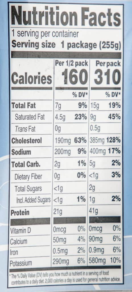 Nutritional facts for Trader Joe's Argentinian Red Shrimp