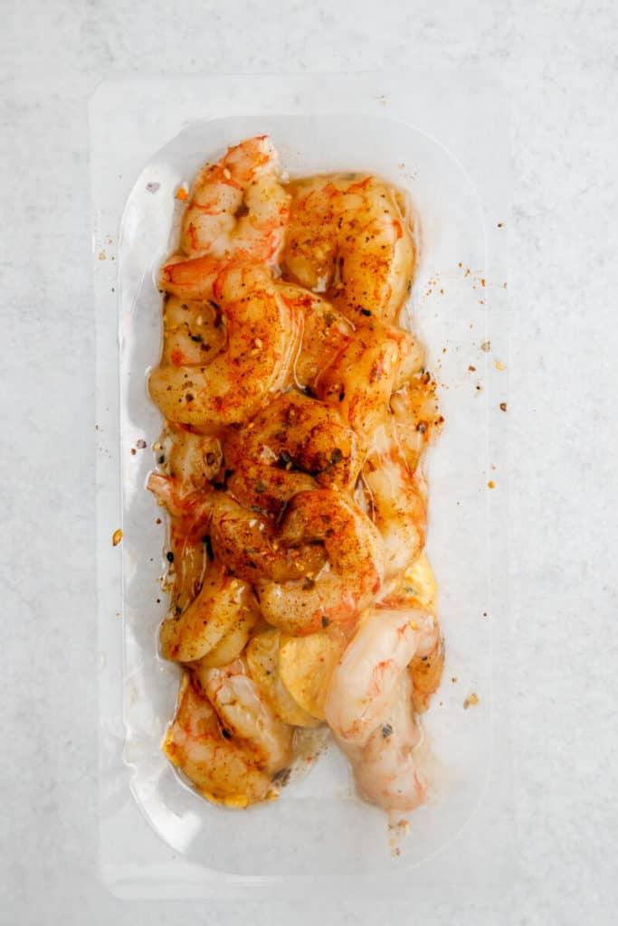Trader Joe's Argentinian Red Shrimp thawed