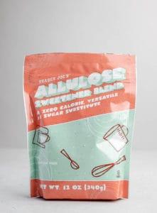 An unopened bag of Trader Joe's Allulose
