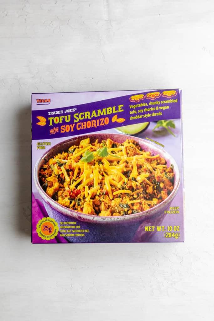Trader Joe's Tofu Scramble with Soy Chorizo unopened
